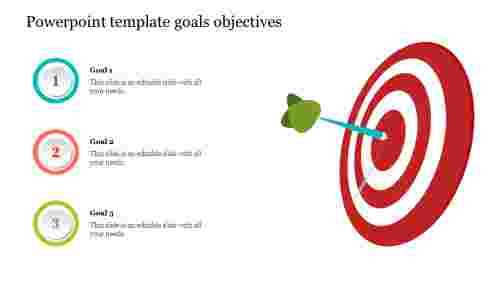 Business powerpoint Template Goals Objectives