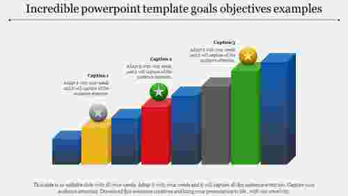 Cubes powerpoint template goals objectives