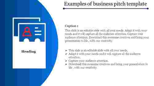 business pitch template-Examples of business pitch template