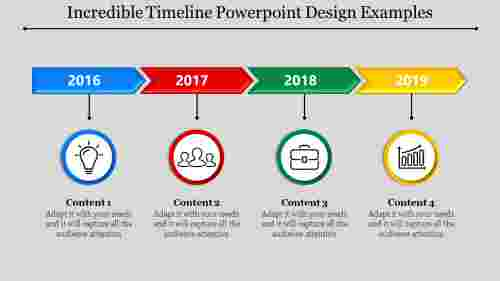 linear timeline powerpoint design