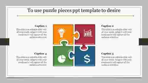 puzzle pieces PPT template