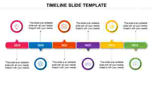 Timeline slide template presentation