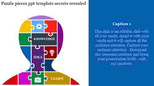 puzzle pieces PPT template