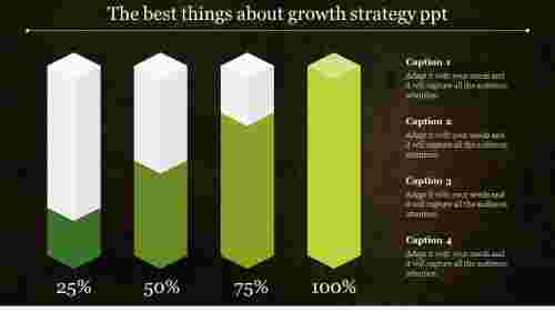 Four%20stages%20growth%20strategy%20PPT%20with%20Dark%20background