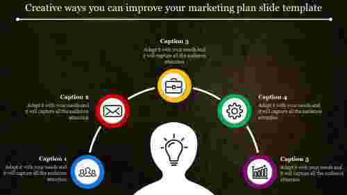 Marketing plan slide template - Semi - intercircular Design