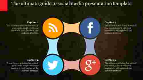 social media presentation template-circular loop design