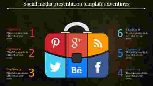 Social media presentation template for business