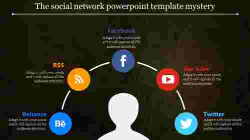 SemiCircle social network powerpoint template