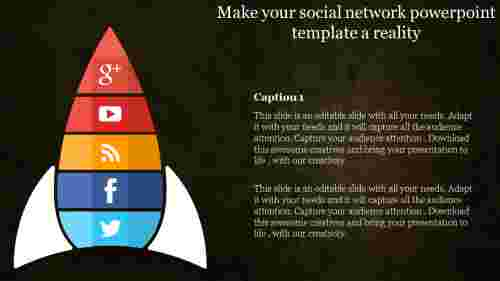 Social network powerpoint template-Rocket model