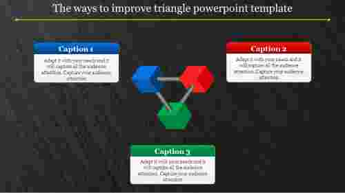 3D triangle powerpoint template connected structure