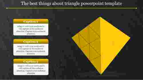 3D triangle powerpoint template