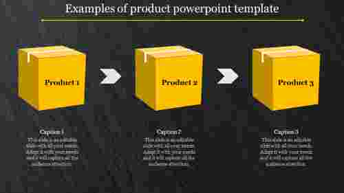 3D box product powerpoint template
