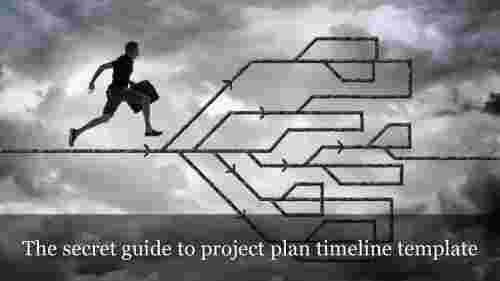 project plan timeline template with human image