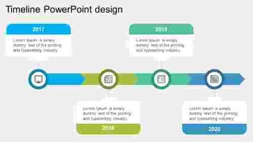 Model timeline powerpoint design