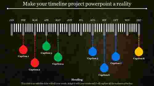 Detailed timeline project powerpoint