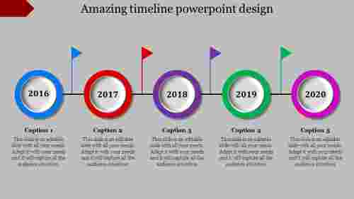 comprehensible timeline powerpoint design