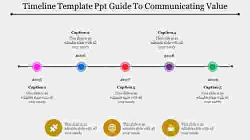 timelinetemplatePPT-linearsingle