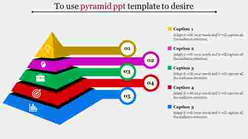 pyramid PPT template-Business strategy