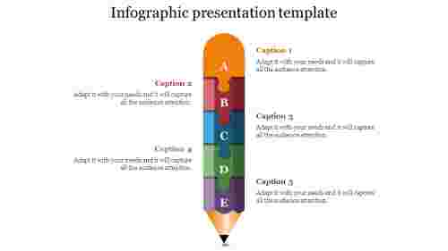 infographic presentation template-Pencil puzzle shpae