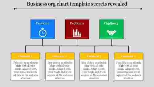 business org chart template