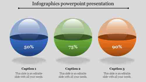Glowing Bubbles infographics powerpoint presentation