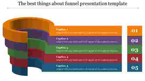 Vertical funnel presentation template