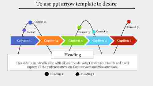 ppt arrow template-To use ppt arrow template to desire-Style 1