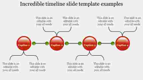 Describing timeline slide template