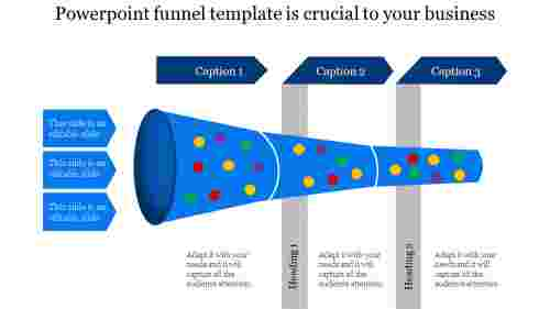 Infographic powerpoint funnel template
