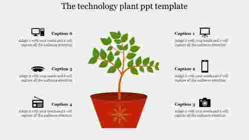 plant ppt template-The technology plant ppt template