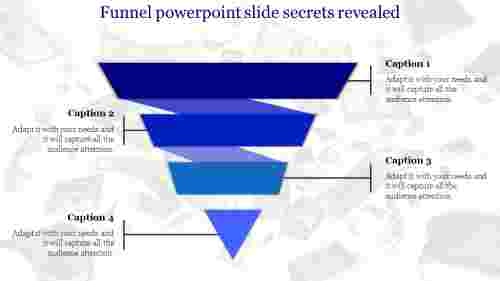 four pointed funnel powerpoint slide