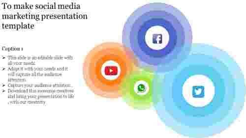 Social Media Marketing Presentation Template - Spiral Model