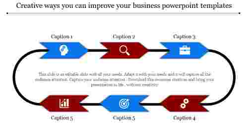 business powerpoint templates - chained arrow model