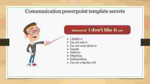 Teachingcommunicationpowerpointtemplate