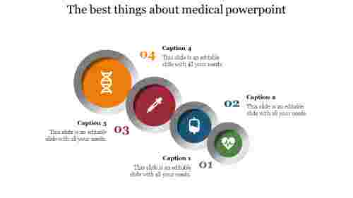 Four stages medical powerpoint non circular design