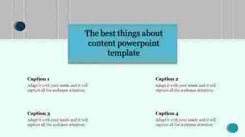 Free - Content Powerpoint Template