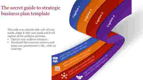 Ribbon model  strategic business plan template