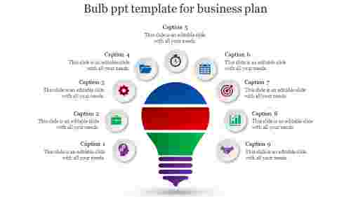bulb ppt template-Bulb ppt template for business plan