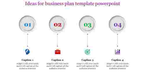 business plan template powerpoint - four layered circle