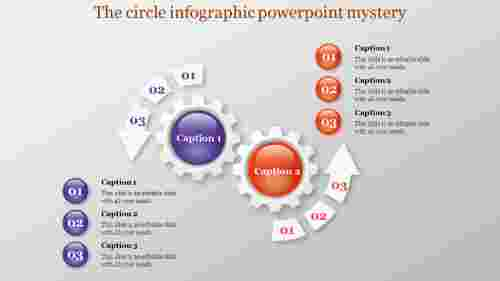 Editable Circle Infographic Powerpoint presentation