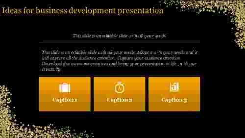 business development presentation - golden blocks