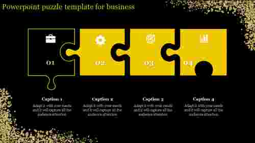 dark backgrounded  powerpoint puzzle template