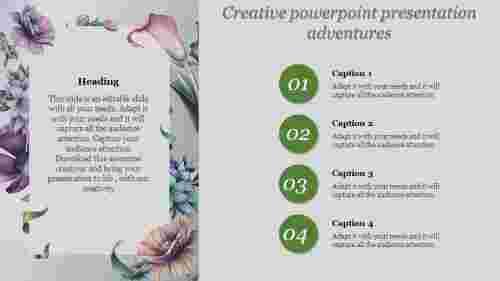 Four stage  creative powerpoint presentation