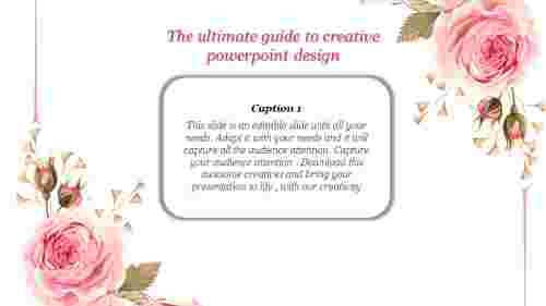 floral  creative powerpoint design