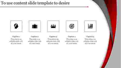 innocative  content slide template