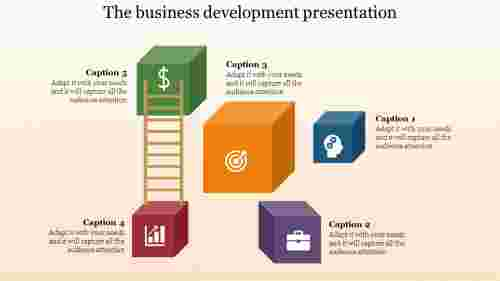 cubical model business development presentation