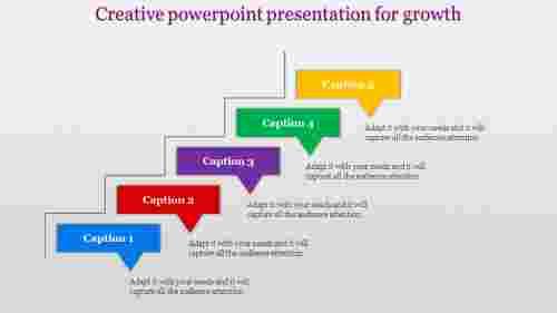 five staged rectangular creative powerpoint presentation