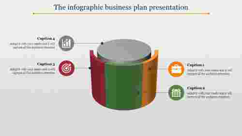 Multi color business plan presentation - cylindrical model