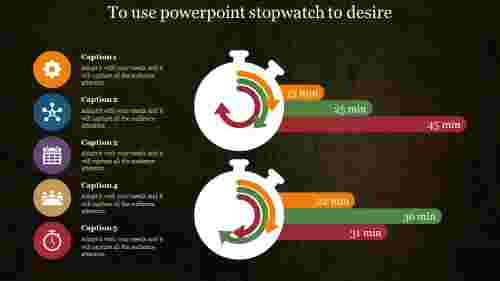 Powerpointstopwatchwithmulticolor