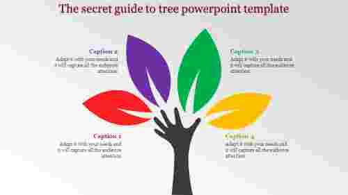 tree powerpoint template with leafs
